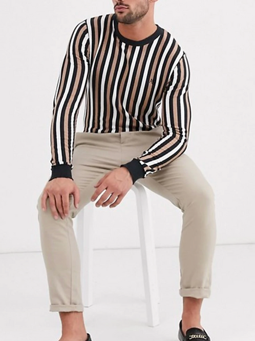 Ageless Vertical Striped Jumpers