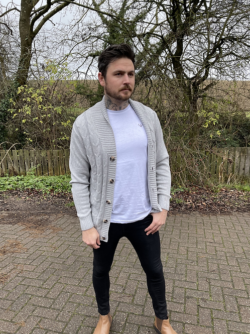 Ageless Cable Knit Cardigan
