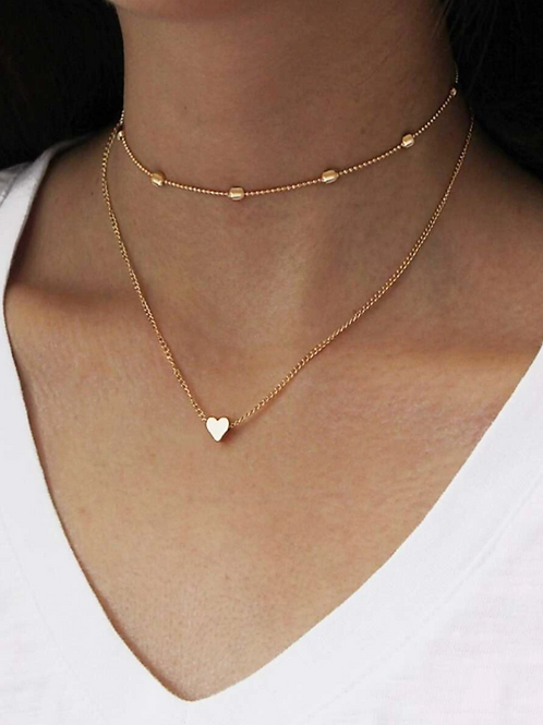 Ageless Sweetheart Layered Necklace