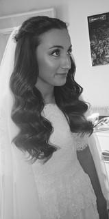 bridel hair down updo