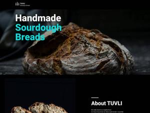 Tuvli Bakery Landing Page