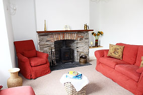 Lanthorn House Porthcothan Bay living room