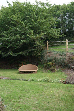 Garden shot with rattan sofa