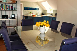 From dining table to kitchen