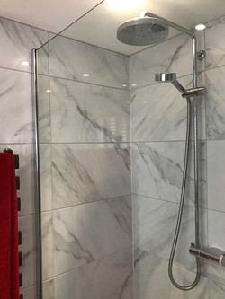 Bay new master bathroom shower