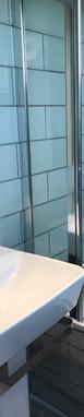 Bay Twin Bathroom, pedestal & shower view