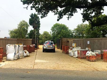 Patrolling site as renovation takes place
