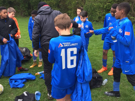 Triangle in the community -  our team win 4-0 over Billericay!