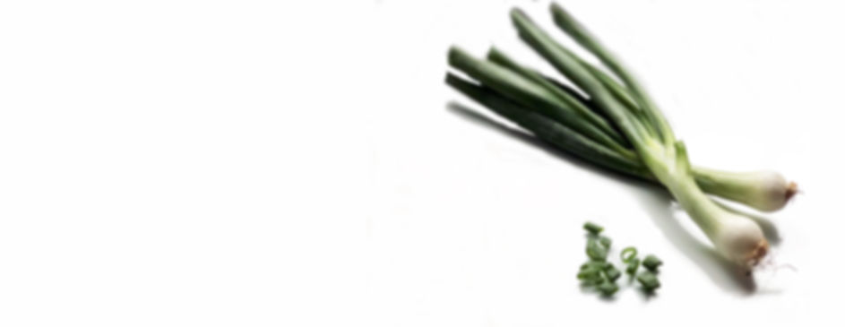 Fresh spring onions from shop