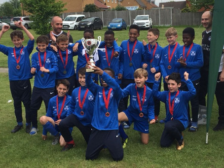 Colebrook under 11's win the cup!