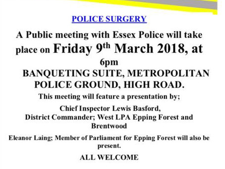 A representative from Triangle to attend meeting between Essex Police and Chigwell Residents