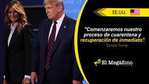 Donald Trump y su esposa Melania dan positivo por covid-19