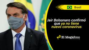 Bolsonaro da negativo por COVID-19 tras haber contraído el virus tres semanas atrás