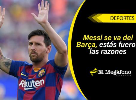 Lionel Messi anuncia su salida del Barcelona