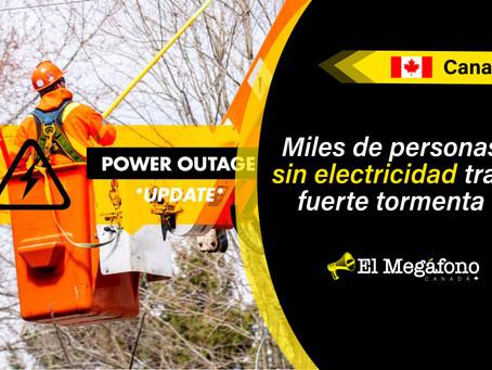 Más de 217.000 habitantes de Ontario afectados por cortes de energía el domingo