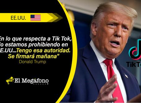 Donald Trump anunció que actuará para prohibir Tik Tok en EE. UU. este sábado