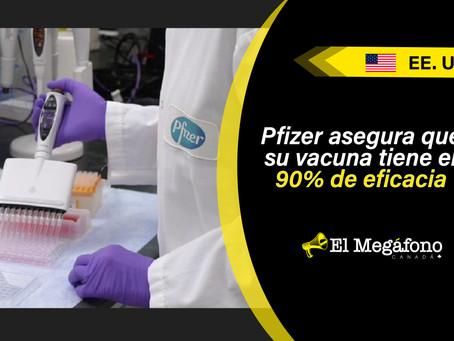 Pfizer y BioNTech anuncian la eficacia de su vacuna contra COVID-19
