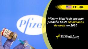 Vacuna contra COVID19 de Pfizer alcanza 95% de efectividad, espera autorización para su distribución
