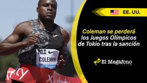 Christian Coleman, campeón de los 100 m, suspendido dos años por faltar a las pruebas de dopaje
