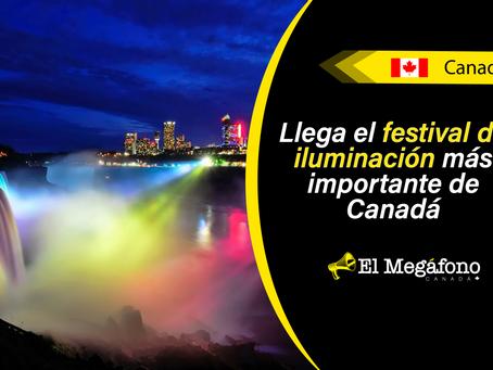 Este fin de semana Winter Festival of Lights abre sus puertas para iluminar Niagara Falls y más
