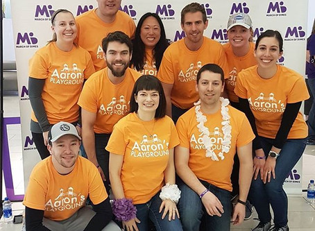 Team Aaron's Playground walks for the March of Dimes