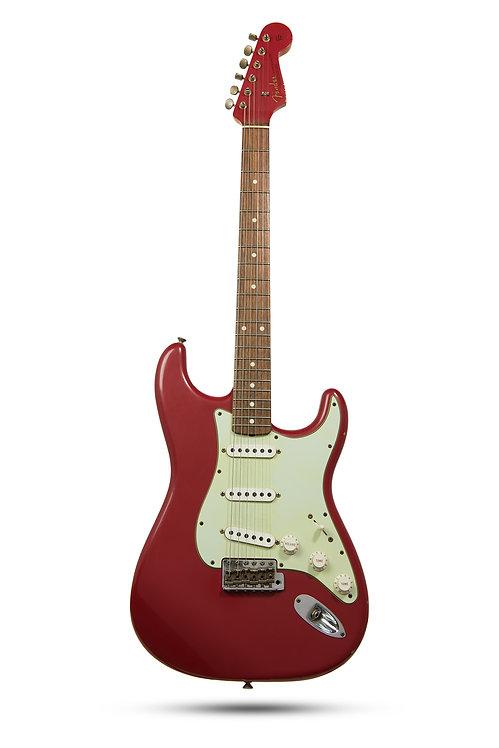 New 2014 Fender Custom Shop Relic 1960 Strat Matching Headstock Dakota Red
