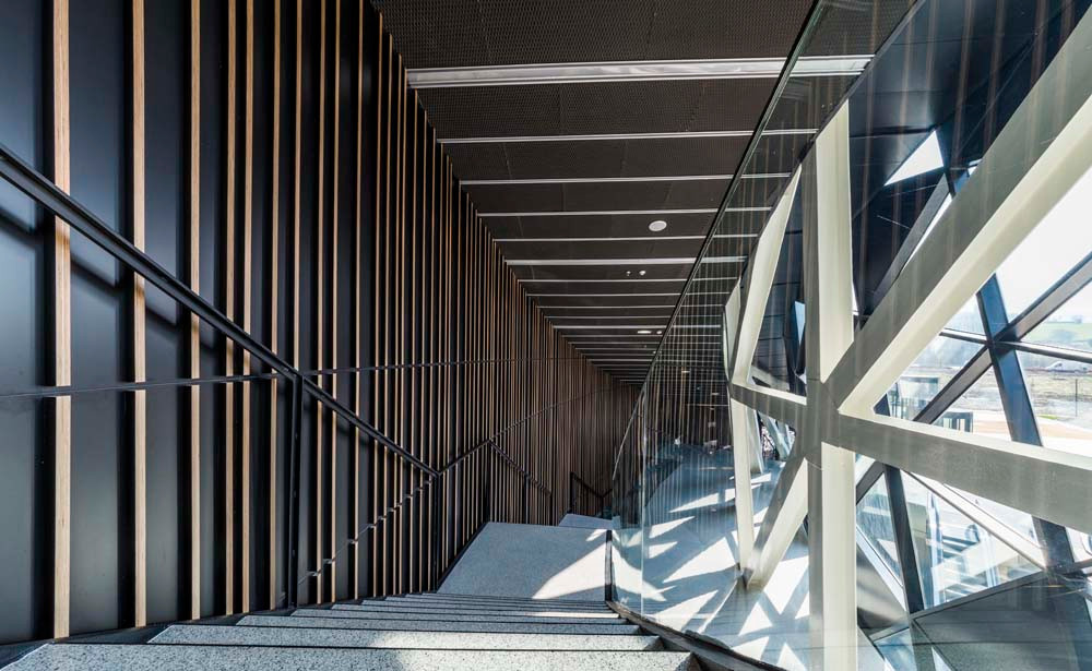 Orona Zero interior staircase