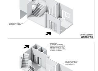 Solución de accesibilidad con bajada a cota cero de ascensores en una torre de viviendas