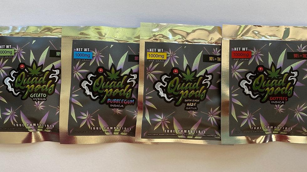 Juul Compatible Quad Pods Refill- Super Lemon Haze