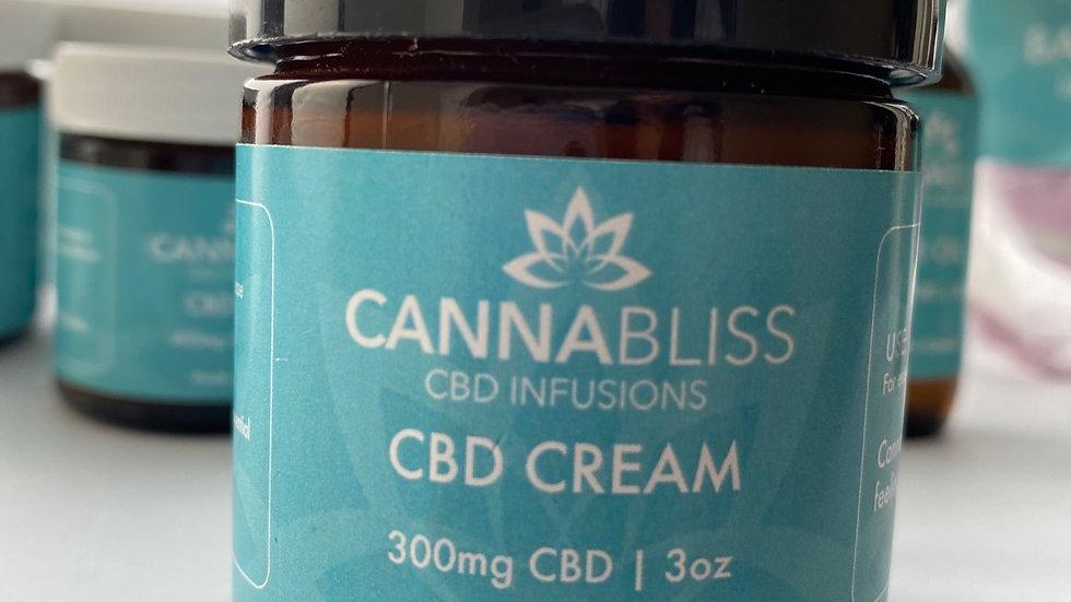 CANNABLISS 300mg CBD Cream