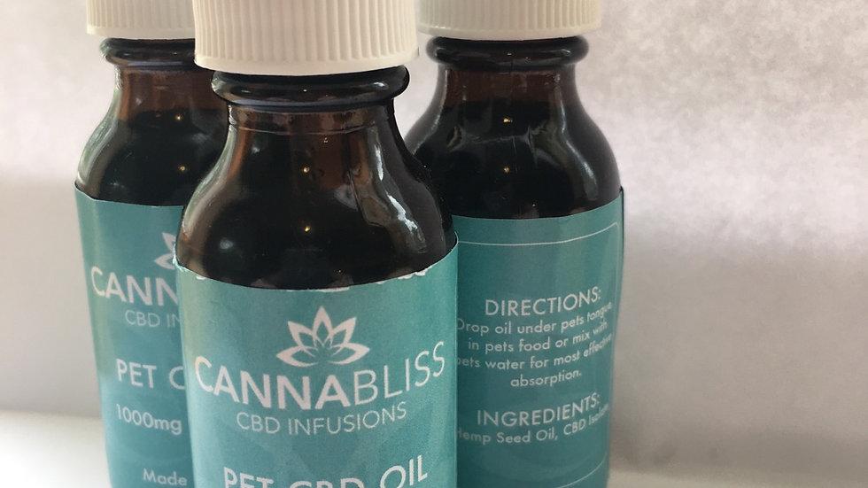 Cannabliss Pet CBD Oil Tincture 1000mg