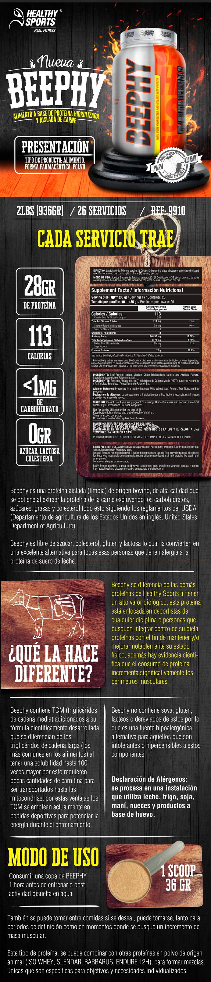 Beephy - Proteína 100% de Carne Bovina