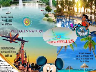 Projets des Airelles en 2018 - Center Parcs et Disneyland