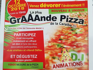 La plus grande Pizza de La Caraïbe