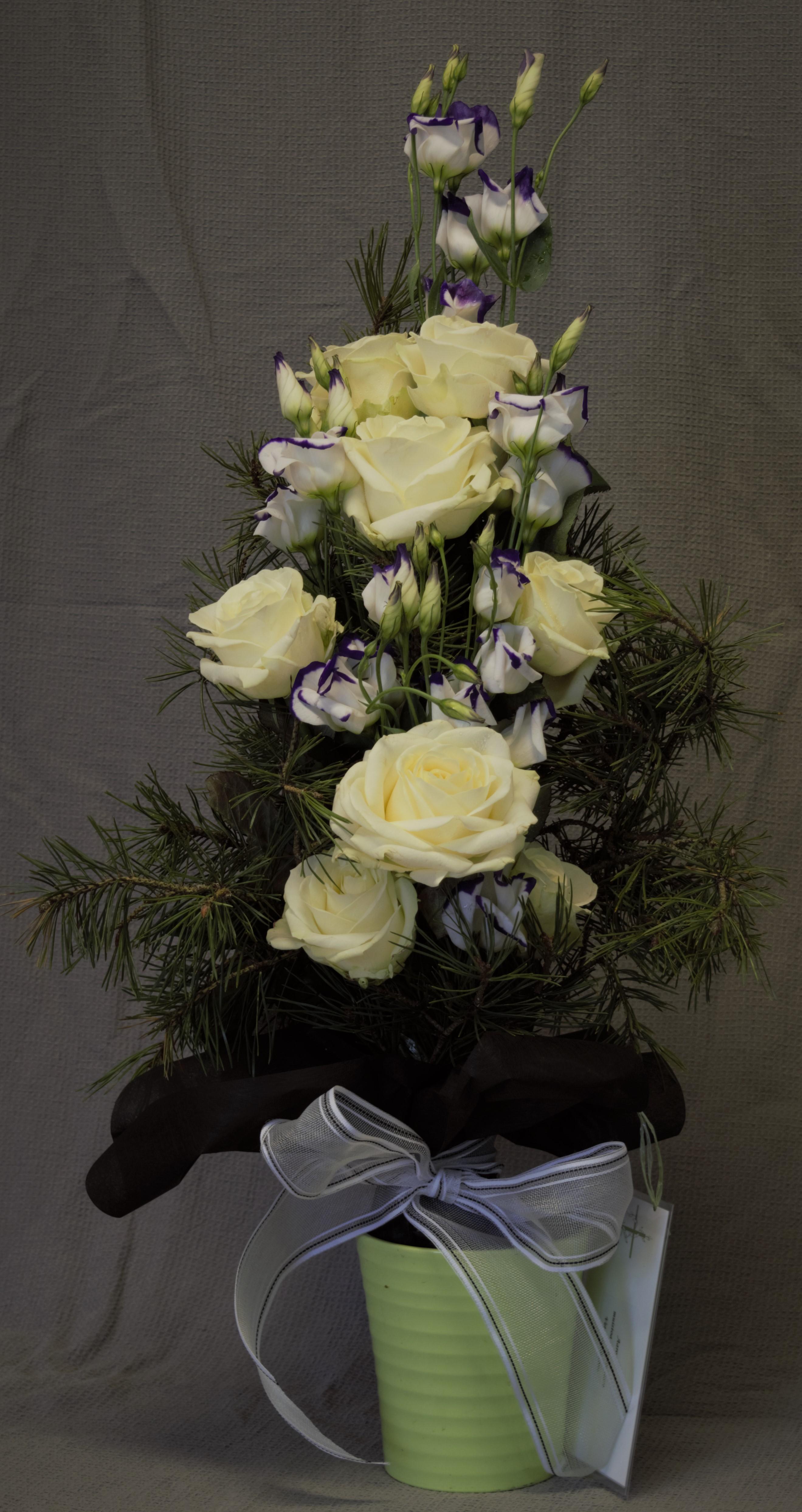 Kimppu 35e (ruusu,eustoma,havu)
