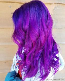 🤓That Purple Rain × Virgin Pink Blend!! 💜💕💜 using #arcticfoxhaircolor + #nofilter 💖_•_•_•_#purp