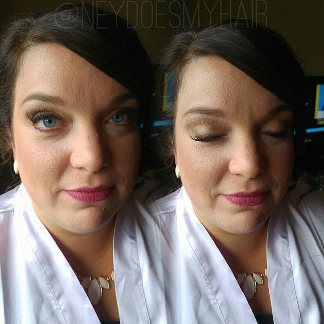 Summer wedding makeup on this lovely lady! 💍💘💋