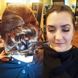 Bridal hair + makeup on this beautiful Queen! 👰💍❄