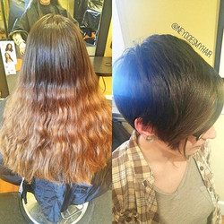 Today's #TransformationTuesday at Voila! This daring lady cut off over 10_ today! Wow! I'm just so p