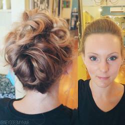 Bridesmaid beauty 💎✨👑_°_°_#bridesmaid #updo #hairstyle #weddinghair #portlandme #maineweddings #cu