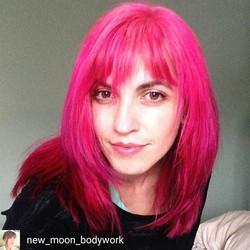 Cupcake Pink Dreams on the beautiful Catherine (_new_moon_bodywork) 💖💖💖_•_•_•_#pink #pinkhair #cu