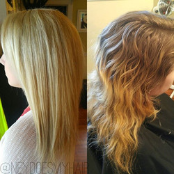 From grown out blonde to icey blonde thanks to _olaplex! Lightened with Light Master and 40 vol with