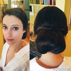 Yesterday's beautiful Baltimore bride ✨💍👰_°_°_#bride #weddingupdo #bridalupdo #maineweddings #hair