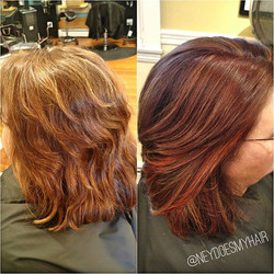 Time for change is now! Burnt Sienna on my favorite mother-in-law! 🔥🔥🔥