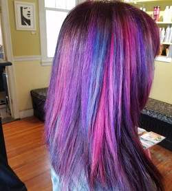 Galaxy unicorn candy hair 💜💙❤ •_•_•_#unicornhair #arcticfoxhaircolor _arcticfoxhaircolor #nofilter