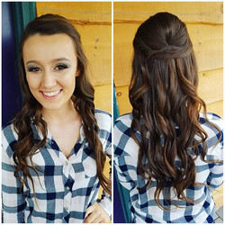 Prom hair + Makeup 😍😍😍