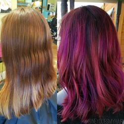 💜 C O L O R 🔮 S P E L L 💜_Hexin' bad hair days 🌈_•_•_•_#nofilter #newhair #haircolor #arcticfoxh