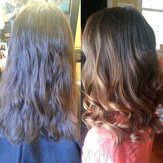 We're making balayage dreams come true! 🎶💖🎉