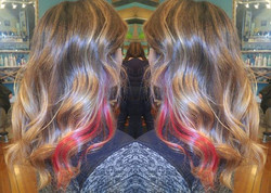 Fresh balayage ✔ Pop of color ✔ Gorgeous hair ✔