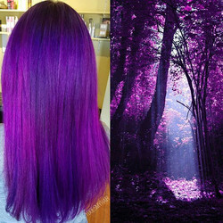 Today has been making my 💜Purple💜 Dreamsssss come true thanks to #Arcticfoxhaircolor!_•_•_•_#newha